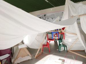 Cave Community Camp – Installation im Haus der Statistik
